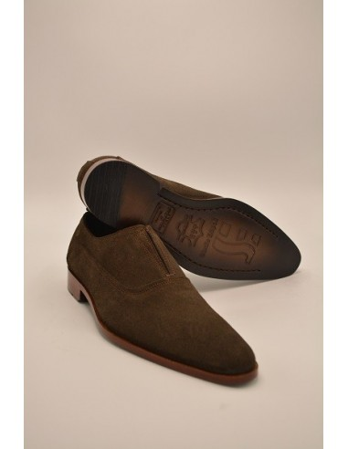 Modern All Suede Leather Loafers - Brown