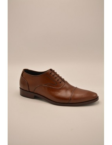 Cap Toe Classic Five Eyelet Oxford With Stylish Toe - Brown