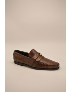 Tonal Leather Loafer With...