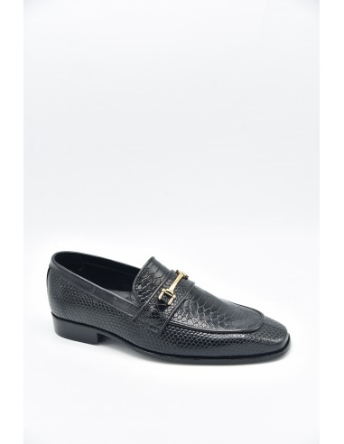 Modern Croc Print Loafers With Metal