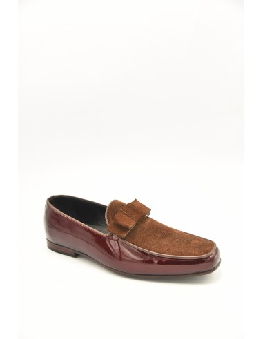 Stylish Suede Loafer With Leather Tie...