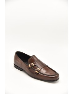 Double Monk Loafer With...