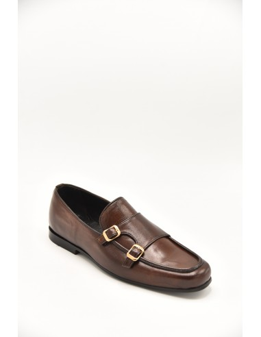 Double Monk Loafer With Golden...