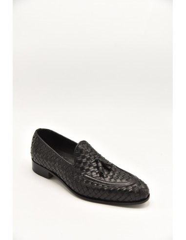 Modern Tasseled Leather Loafers In...