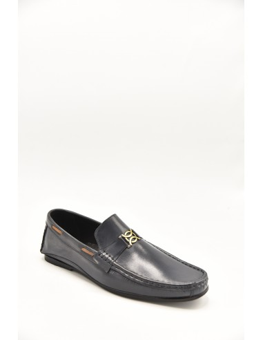 Low Heeled Leather Loafer With Metal...