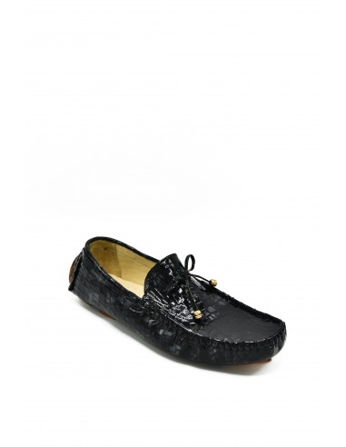 Croc Imprint Leather Loafer with...