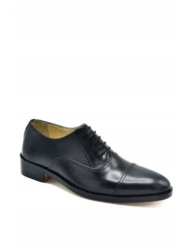 Classic Toe Cap Oxfords - Black