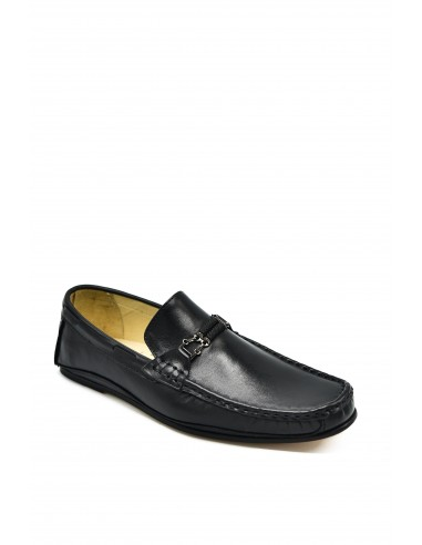 Low Heeled Leather Loafer With...