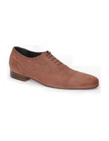 Tirano 5 Eyelet Suede Oxford in Semi Brogue - Brown